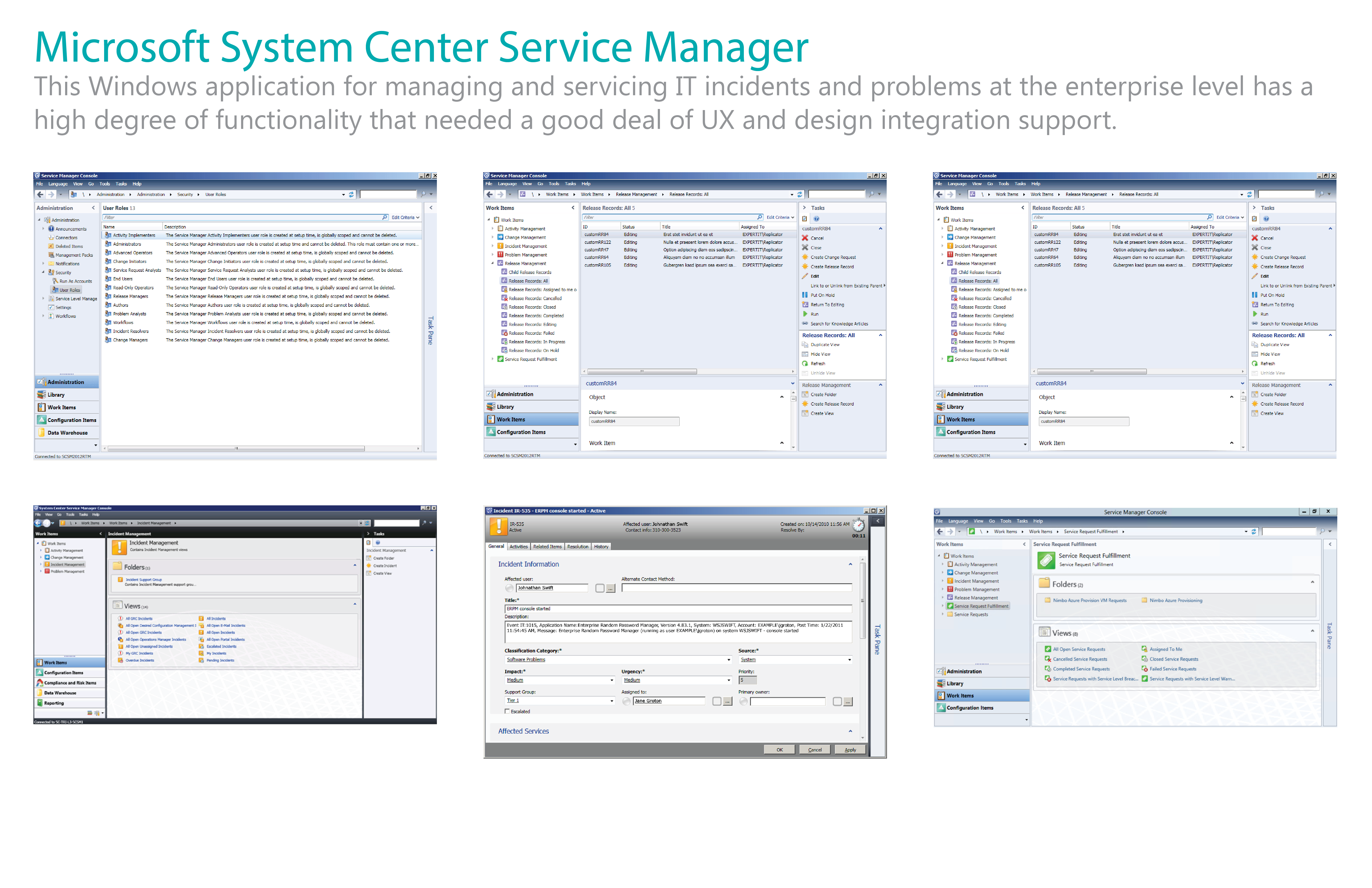 Microsoft Service Center System Manager