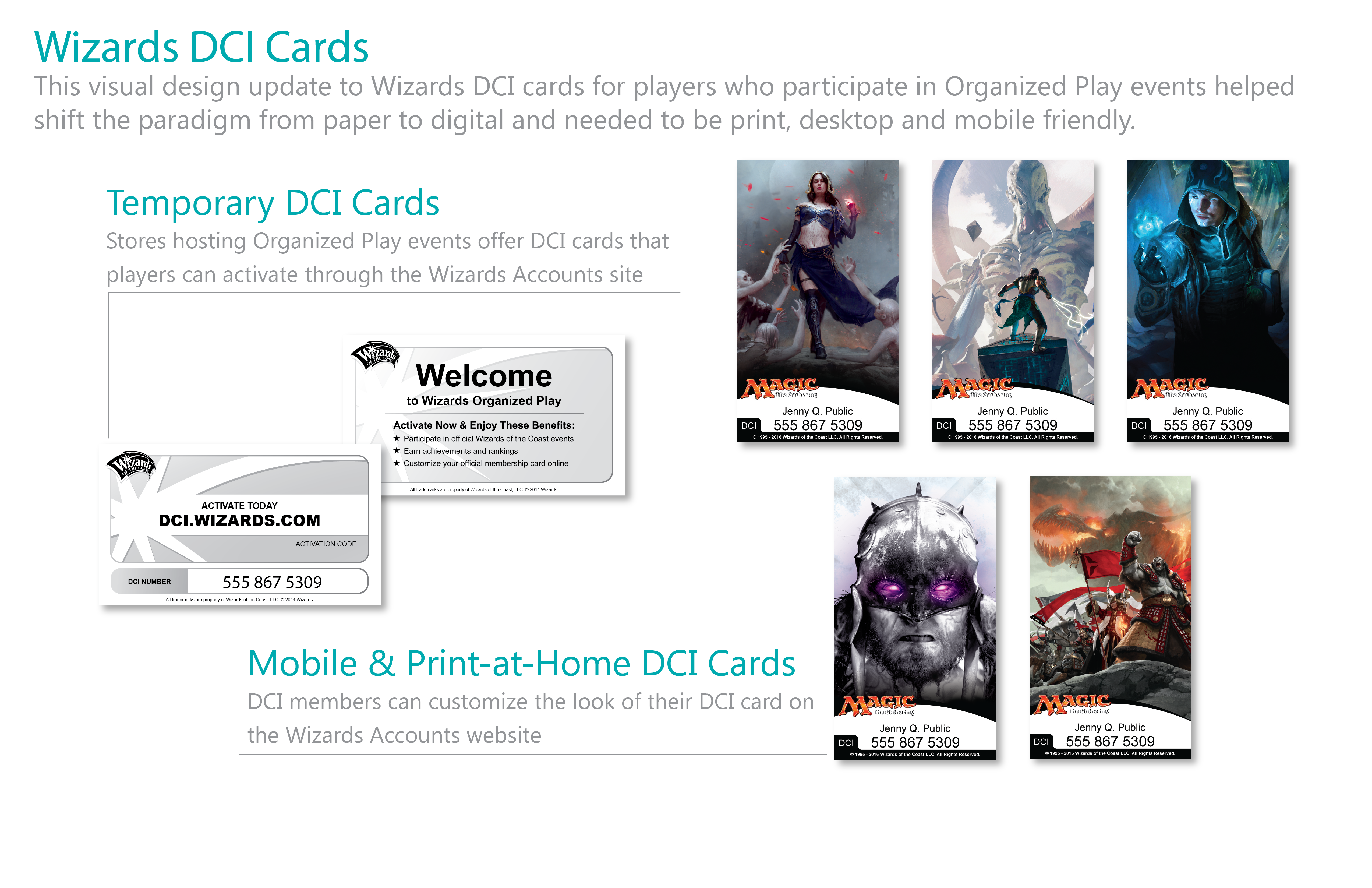 Wizards DCI Cards