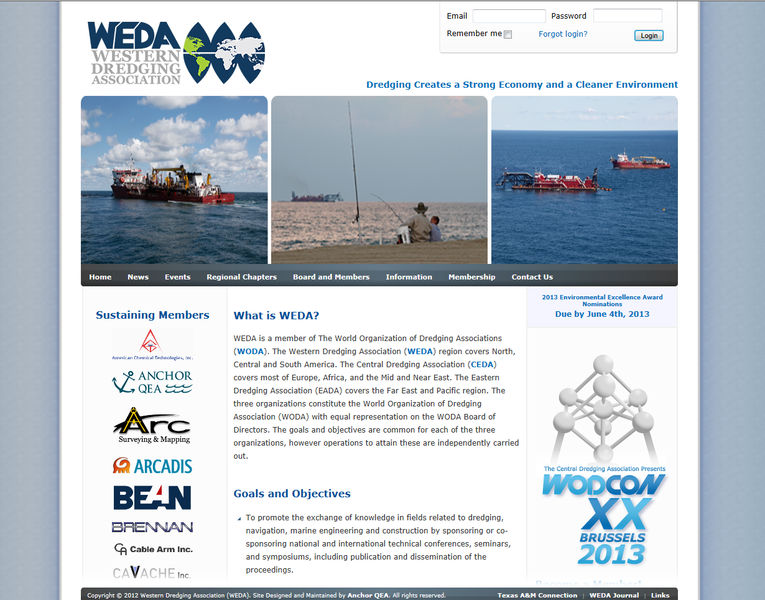 Western Dredging Association Website